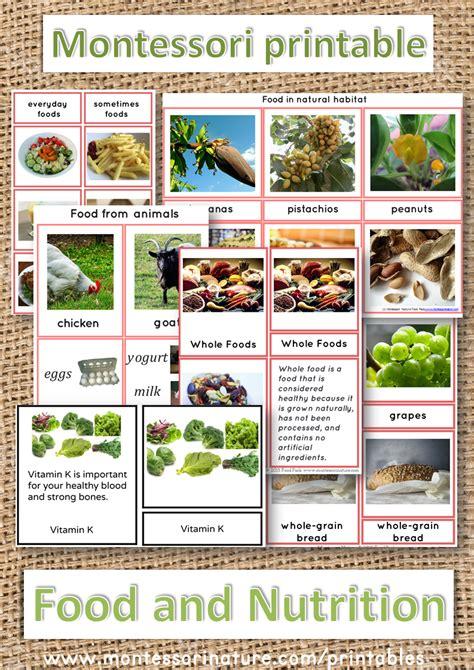 montessori printable files food and nutrition montessori nature