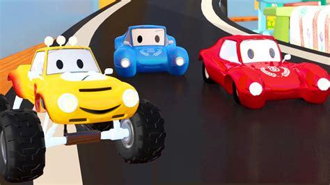 racing car  lucas  monster truck cartoon