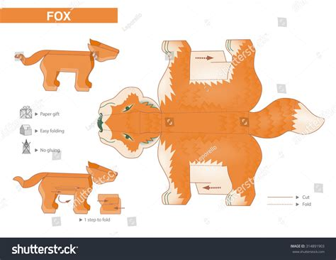 crafts for small children fox paper model cutouts for children small home craft
