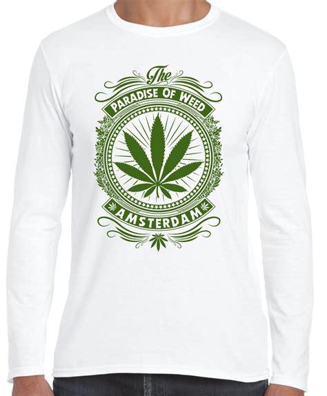 Tshirts Cannabis Bc amsterdam paradise of cannabis sleeve t shirt