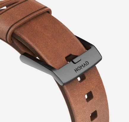 Nomad Modern Build Leather Apple 42mm Black Buckle nomad modern for apple is a luxurious horween