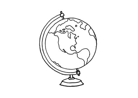 free coloring pages of globe worksheet