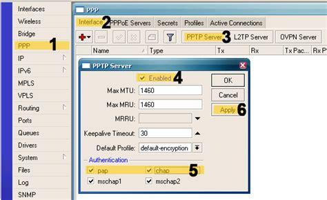 membuat vpn mikrotik membuat pptp server di mikrotik just for sharing