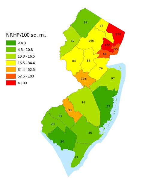 nj counties map national register of historic places listings in new