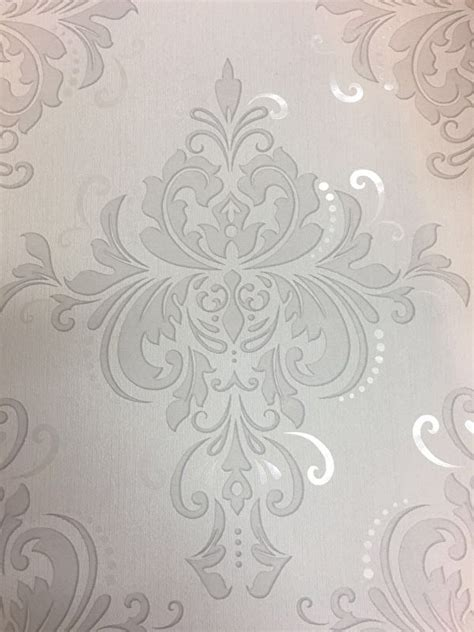 parelmoer behang barok behang wit grijs parelmoer 6959 31 assorti behang