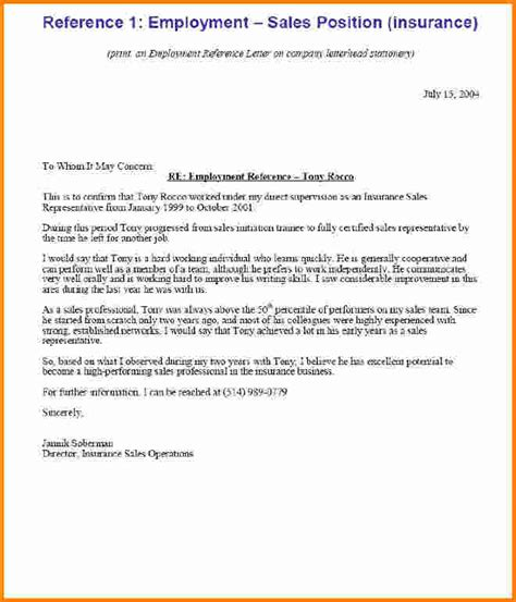 Employment Update Letter Update 21807 Exles Of Reference Letters For