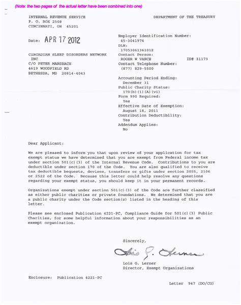 Appeal Letter Sle Non Profit Irs Determination Letter Non Profit Letter Idea 2018