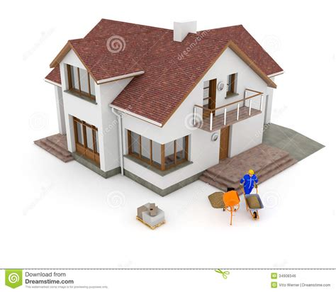 3d house builder 3d building renovation royalty free stock image image