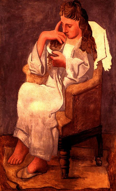picasso paintings of olga reading pablo picasso biblioklept