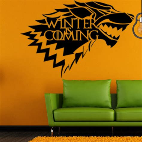 of thrones house stark wolf vinyl sticker decal hbo winter is coming at banggood