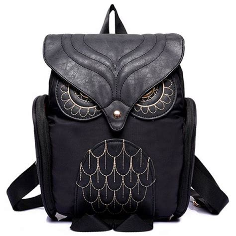 High Quality Handbag Fashion Owl C755 Black 1000 ideas about owl backpack on owl crafts owl patterns and diy bags