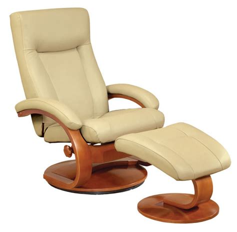 euro chair with ottoman euro recliner and ottoman in cobblestone leather model 54