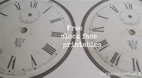 free printable cd clock faces clock face ornament and other tree decor