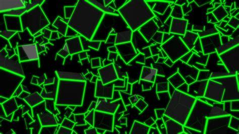 green neon cubes  uhd wallpaper
