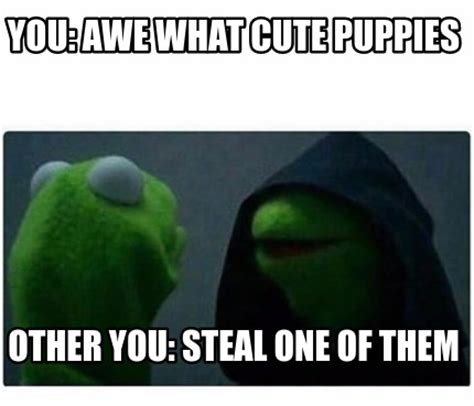 Awe Meme - meme creator you awe what cute puppies other you steal