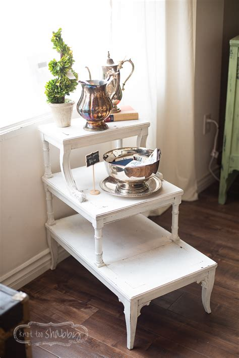 3 tier side table 3 tier side table knot shabby furnishings