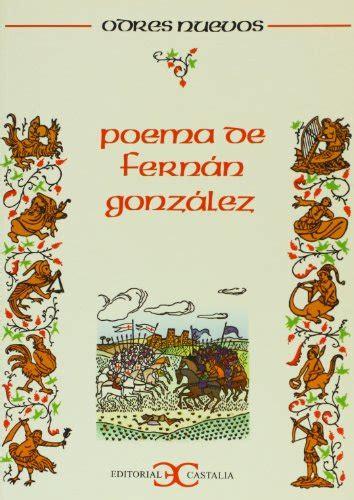 libro fernn gonzlez el poema de fern 225 n gonz 225 lez p 250 blico libros