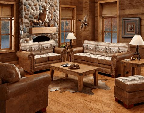lodge living room furniture alpine lodge sofa collection