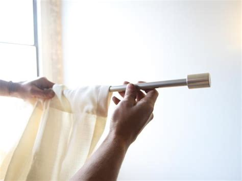 slide on curtain brackets how to hang curtain rods how tos diy
