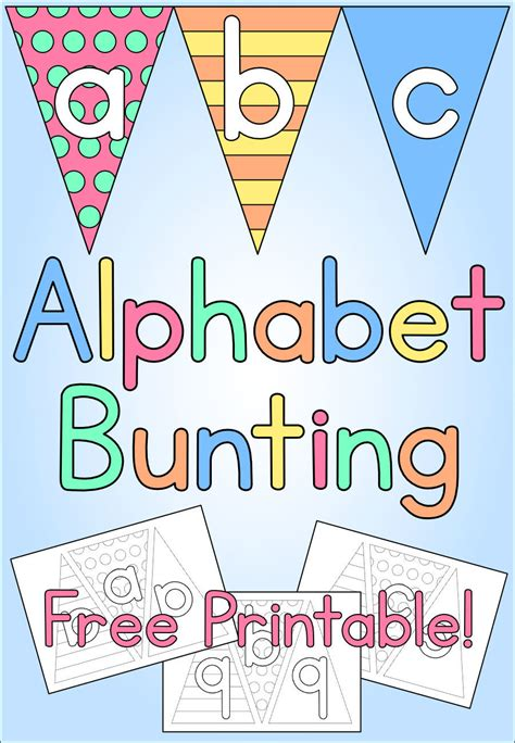 printable bunting letters alphabet bunting kids craft free printable mama geek