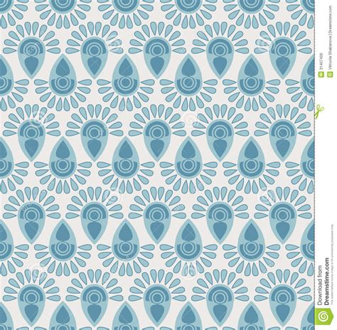 Upholstery Designer by Seamless Floral Pattern With Geometric Stylized Flowers