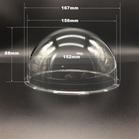 cupola in plexiglass 2018 167x88mm 6 inch clear ptz speed dome lens