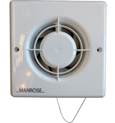 manrose extractor fans for bathrooms xf100p manrose 100mm bathroom extractor fan with pull