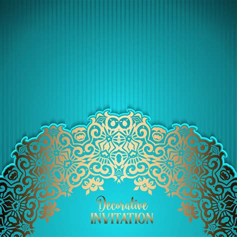 invitation background decorative invitation background free vector