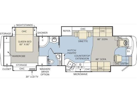 monaco rv floor plans 2008 monaco diplomat 40pdq photos details brochure