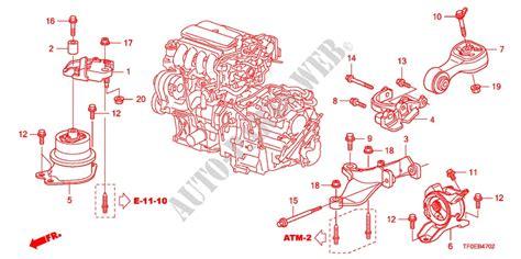Engine Mounting Jazz At engine mounts at parts 15 ex 2010 jazz honda cars honda genuine spare parts part diagrams