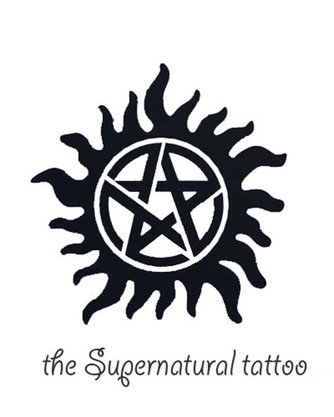 the supernatural tattoo by viraag on deviantart