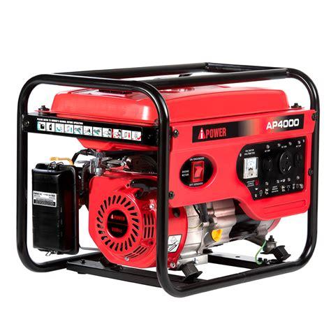 a ipower ap4000 4 000 watt gasoline powered portable
