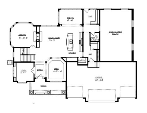 main floor plans superior 7045 4 bedrooms and 3 baths the house designers