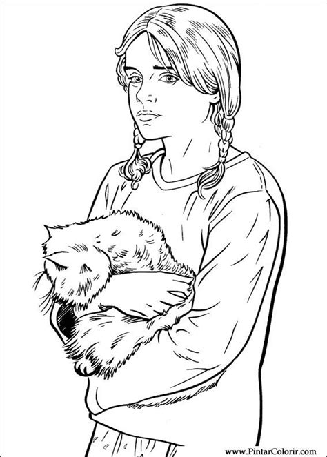 harry potter coloring pages crookshanks disegni per dipingere colour harry potter stare