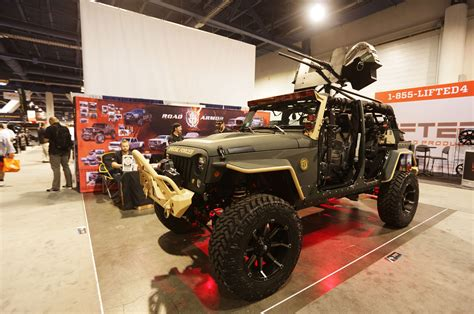 armored jeep wrangler why sema is the big auto show