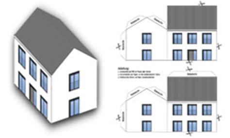 haus aus papier basteln anleitung papierhaus basteln bastelbogen din a4 bastelanleitungen org