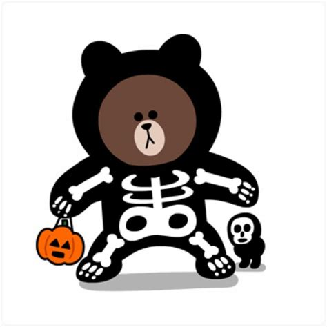 Kaos Line Emoticon Brown 17 17 best images about brown and cony on