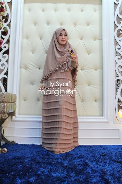 Terlaris Gamis Syari Hasna Brown Baju Muslim Modern syar i coksu baju muslim gamis modern