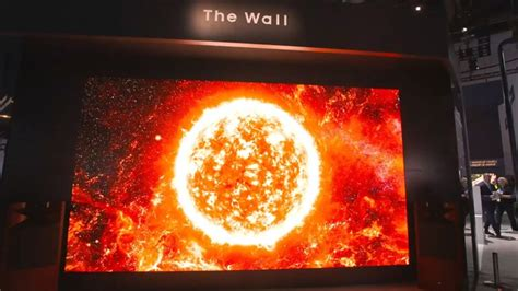 samsung 219 inch tv america meet the wall samsung unveils a 219 inch tv at look ces wtsp