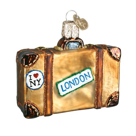 suitcase ornament old world christmas glass ornaments