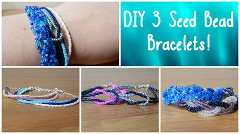 seed bead diy diy 3 seed bead bracelets how to beginners jewellery
