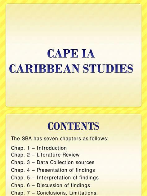 themes in caribbean literature cape caribbean studies ia guide literature review data