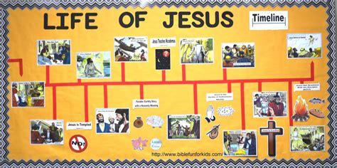 biography of jesus ks2 bible fun for kids life of jesus timeline bulletin board