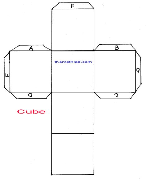 geometry net templates cube net