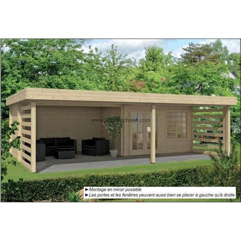 Chalet House by Chalet A Toit Plat Pool House Abri De Jardin Bois En Kit