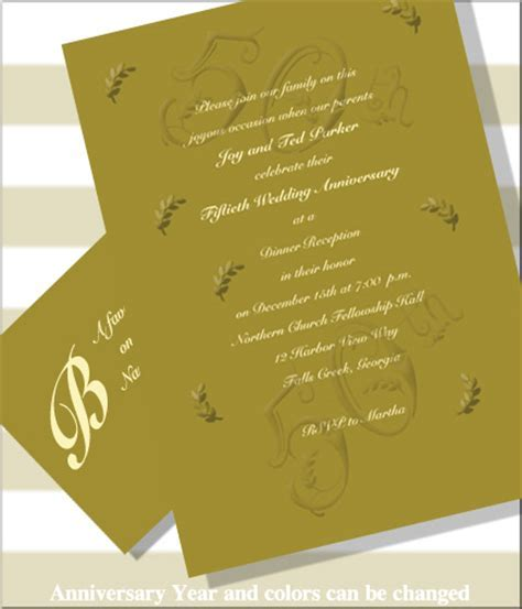 Wedding Anniversary Celebration Invitations (Item #BE1643R)