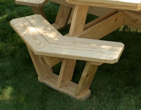 pine picnic bench treated pine octagon walk in picnic table