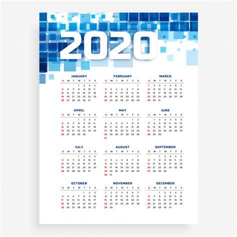 blue vertical  calendar template vector