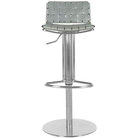 stainless steel bar stools with backs safavieh floyd adjustable height stainless steel bar stool
