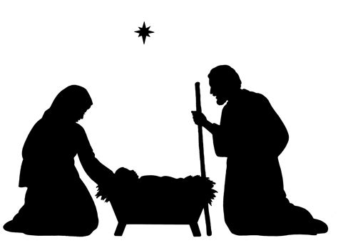 nativity silhouette clip free best free nativity clipart silhouette images